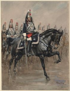 Guards Cuirassiers of the Second Empire.  By Georges Scott from the Anne S. K. Brown Military Collection.