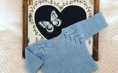 Paso a paso de jersey de punto a tricot con raglán espiga para bebe Baby Knitting Patterns, Knitting For Kids, Baby Pullover, Baby Cardigan, Crochet Baby, Knit Crochet, Bebe Baby, Cotton Club, Baby Sweaters