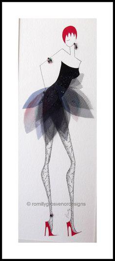 Fashion illustration original wall art by ArtFashionByRomilly, £60.00