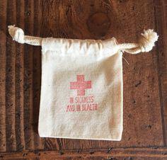 Wedding Survival Kit Bags  Hangover Kit  Wedding by ericksondesign