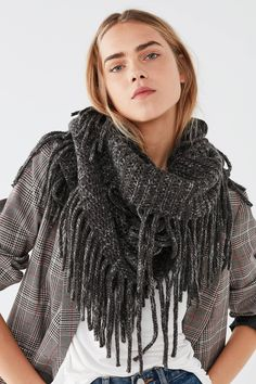 Fringed Infinity Scarf | Urban Outfitters