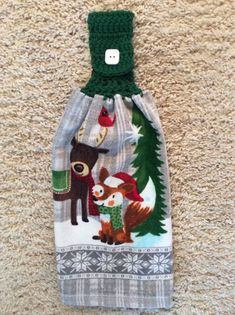 A personal favorite from my Etsy shop https://www.etsy.com/listing/566720270/hanging-kitchen-towel-reindeer-fox