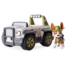 Paw Patrol Jungle Rescue, Tracker's Jungle Cruiser Vehicle and Figure