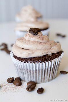 Mocha Cappuccino Hazelnut Cupcakes from anightowlblog.com >> #WorldMarket Outdoor Movie Night