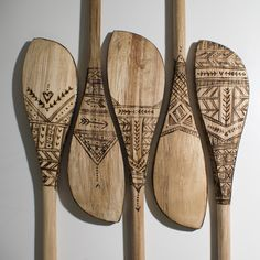 wood burned spoons