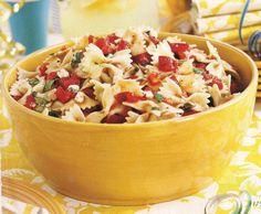 I love easy pasta salads, and this one, which comes from Entertaining with the…