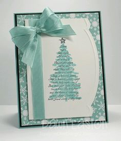 Christmas by TreasureOiler - Cards and Paper Crafts at Splitcoaststampers Stamped Christmas Cards, Christmas Paper Crafts, Homemade Christmas Cards, Christmas Cards To Make, Noel Christmas, Xmas Cards, Homemade Cards, Holiday Cards, Room Deco