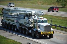 Kenworth concrete pump. I have neuer seen a pumper this big. www.batsbirdsyard.com = Bat Houses.