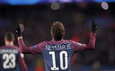 Download wallpapers Neymar, PSG, France, Ligue 1, football, goal, Paris Saint-Germain