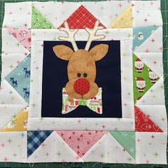 Cozy Christmas Recap #4 - The Grand Finale! - Fat Quarter Shop's Jolly Jabber Star Quilt Blocks, Quilt Block Patterns, Star Quilts, Mini Quilts, Christmas Quilt Patterns, Christmas Quilting, Homemade Quilts, Bee In My Bonnet, Winter Quilts