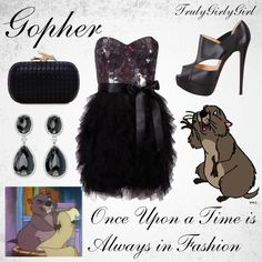 """""""Disney Style: Gopher"""" by trulygirlygirl ❤ liked on Polyvore"""