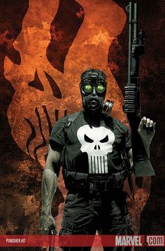 Marvel MAX Punisher 57 - Marvel release date: May 14th, 2008. Writen by Garth Ennis. Art by Goran Parlov. Cover by Tim Bradstreet.