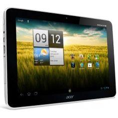 "ACER Tableta ICONIA Tab A210 WiFi - 16 GB - blanco + Funda de neopreno negra y roja con bolsillo frontal LNEO-10 - Hasta 10,2"" - UKA Digital"