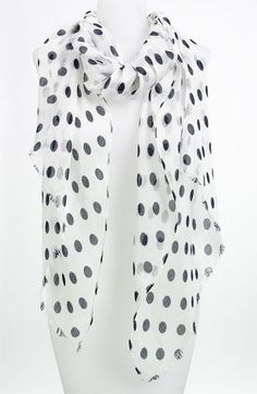 Lauren Ralph Lauren Polka Dot Scarf available at #Nordstrom  Polka Dots are hot!  Only $21.90!