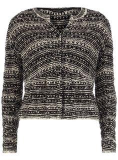 Black/white textured jacket  #DorothyPerkins