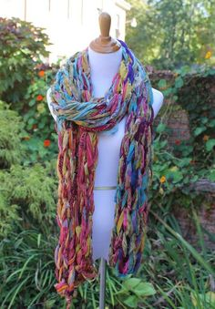 Create a gorgeous arm knit scarf in just 30 minutes with the Arm Knit Scarf Kit from Darn Good Yarn! This kit features recycled chiffon ribbon yarn, so you're sure to create a one-of-kind accessory you'll cherish for years to come.