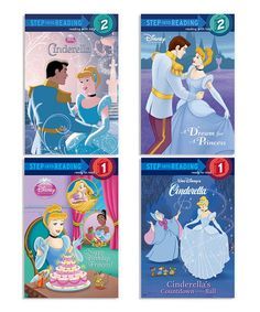 Cinderella Step into Reading Paperback Set by Disney Princess #zulily #zulilyfinds