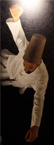 Islamic Sufi mysticism. Whirling dervish.