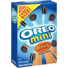Nabisco Oreo Mini Reese's Peanut Butter Flavor Creme Sandwich Cookies, 13 oz