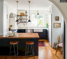 Fabulous Ideas: Small Kitchen Remodel old kitchen remodel breakfast bars.Kitchen Remodel Must Haves Front Doors kitchen remodel with island stools. Small Modern Kitchens, Modern Kitchen Design, Luxury Kitchens, Home Kitchens, Kitchen Designs, Boho Kitchen, Living Room Kitchen, New Kitchen, Kitchen Ideas