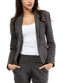 Look at this Graphite Marled Blazer on #zulily today!