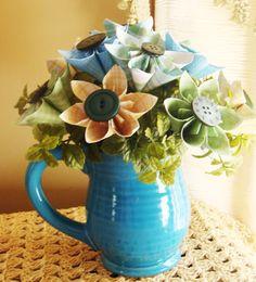 Origami Paper Flower Arrangement Perfect by SweetPeasPaperFlower, $25.00