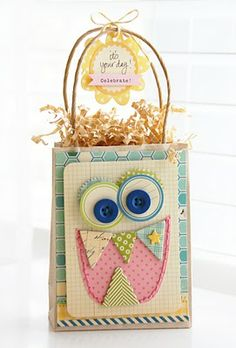 Adorable gift bag for kids....so cute!