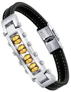 Ai Stainless Steel Jewelry – Pulsera con adorno hecho con acero inoxidable, color plata y marrón  ¿Te ha gustado? Visita http://todohalloween.ovh/tienda/ai-stainless-steel-jewelry-pulsera-con-adorno-hecho-con-acero-inoxidable-color-plata-y-marron/
