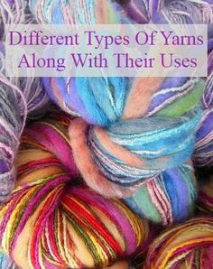 Different Types Of Yarns Along With Their Uses - A Yarn is a string, which is composed of several interlocked fibers that are used in the production of knitting, crocheting, textiles and sewing. Cheap Hobbies, Hobbies To Try, Loom Knitting, Knitting Patterns, Crochet Patterns, Knitting Ideas, Crochet Yarn, Crochet Stitches, Chrochet