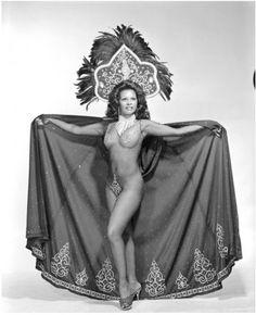 La Vane (1960's) Vintage Black Burlesque