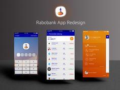 Rabobank App - redesign by Ronald Hagenstein