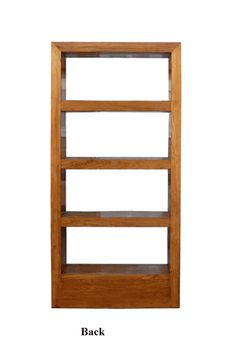 Natural Wood Orient Fusion Display Book-Shelf Cabinet - Golden Lotus Antiques