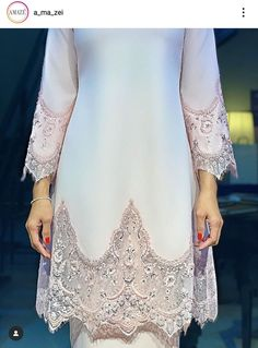 Malay Wedding Dress, Kebaya Wedding, Muslimah Wedding Dress, Muslim Wedding Dresses, Disney Wedding Dresses, Dream Wedding Dresses, Wedding Attire, Hijab Bride, Muslim Brides