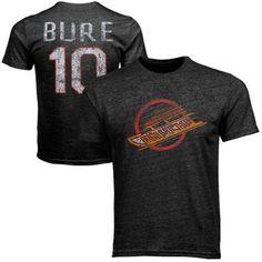 Old Time Hockey Pavel Bure Vancouver Canucks Alumni Player Vintage Heathered T-Shirt - Black