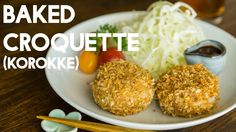 Japanese baked croquette piping hot mashed potato mixed with juicy meat wrapped around a crispy panko shell, no deep frying required! RECIPE ▶ http://www.jus...