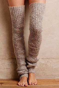 Ribbed Over-The-Knee Legwarmers. It's Flash Dance: Thigh High Leg Warmers, Thigh High Socks, Knee Socks, Thigh Highs, Knooking, Crochet Leg Warmers, Mode Crochet, My Socks, Yoga Socks