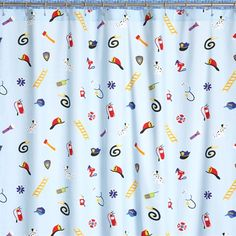 For the little boy who wants to make a difference one day, this Heroes shower curtain will spark his interest. Made from 100% cotton, this curtain features fire hydrants, police hats and more!