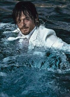 Wet Norman Reedus,YUM ❤️