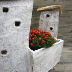 Domek ceramiczny Pueblo ⋆ Wylepianki⋆Hand built ceramic house with plant