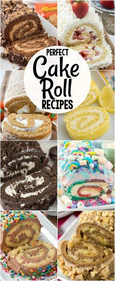 All of my favorite EASY Cake Roll Recipes in one place! Chocolate lemon pumpkin red velvet every cake you love can be made into a cake roll. The post Cake Roll Recipes appeared first on Dessert Platinum. Köstliche Desserts, Delicious Desserts, Dessert Recipes, Unique Desserts, Party Recipes, Fun Baking Recipes, Picnic Recipes, Fun Easy Recipes, Italian Desserts