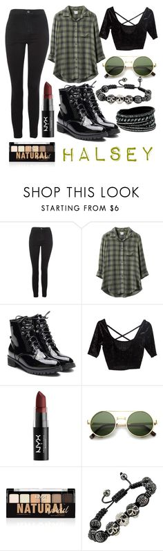 """25"" by thisisalle on Polyvore featuring Topshop, RVCA, NYX, ZeroUV and Swarovski"