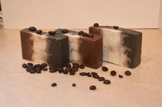 Coffee Soap - Cup of Coffee Soap - Activated Charcoal Soap - Coffee Bar Soap - Handcrafted Soap Bars Men Coffee, Coffee Cups, Handmade Soaps, Etsy Handmade, Palm Fruit Oil, Activated Charcoal Soap, Coffee Soap, Organic Essential Oils, Organic Oils