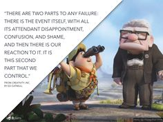 We've collected 37 choice quotes that demonstrate how to develop and maintain a creative company and paired them with images from Pixar's films...