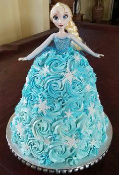 Disney Frozen Elsa Doll Birthday Cake