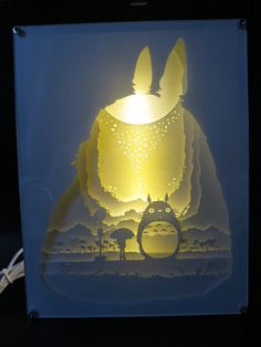 My Neighbor Totoro ver 3 Handmade Paper Craft 3D Night Light