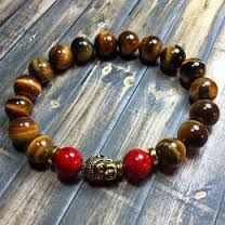 Resultado de imagen para Beaded Rustic Jasper Stacking Bracelet Set ~ Nepalese Brass