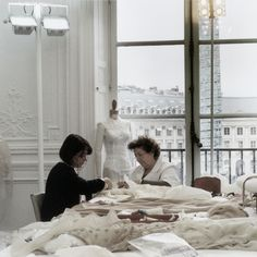 Couture in the Making - fashion atelier; fashion design behind the scenes - the creation of haute couture dresses at Valentino