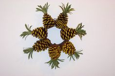 Pine Cone Pineapple Wreath by WestTwinCreationsLLC on Etsy