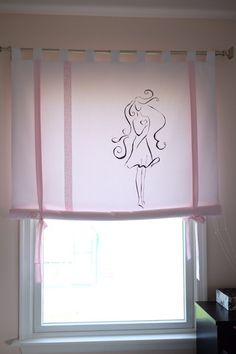 Curtains Made By Me White 100 Cotton Curtain On Hinges W Handmade Painted Monogramming