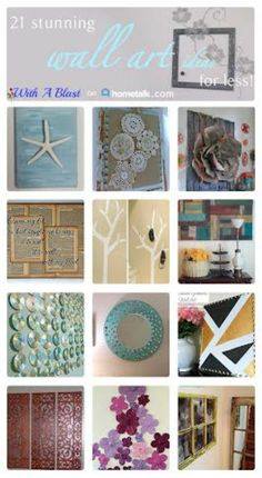 Beautiful DIY Wall Art collection which you can make for less !